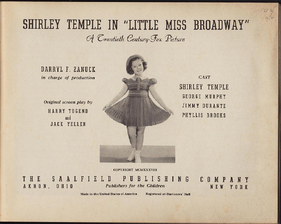 1938 First Edition Shirley Temple Little Miss Broadway - 3