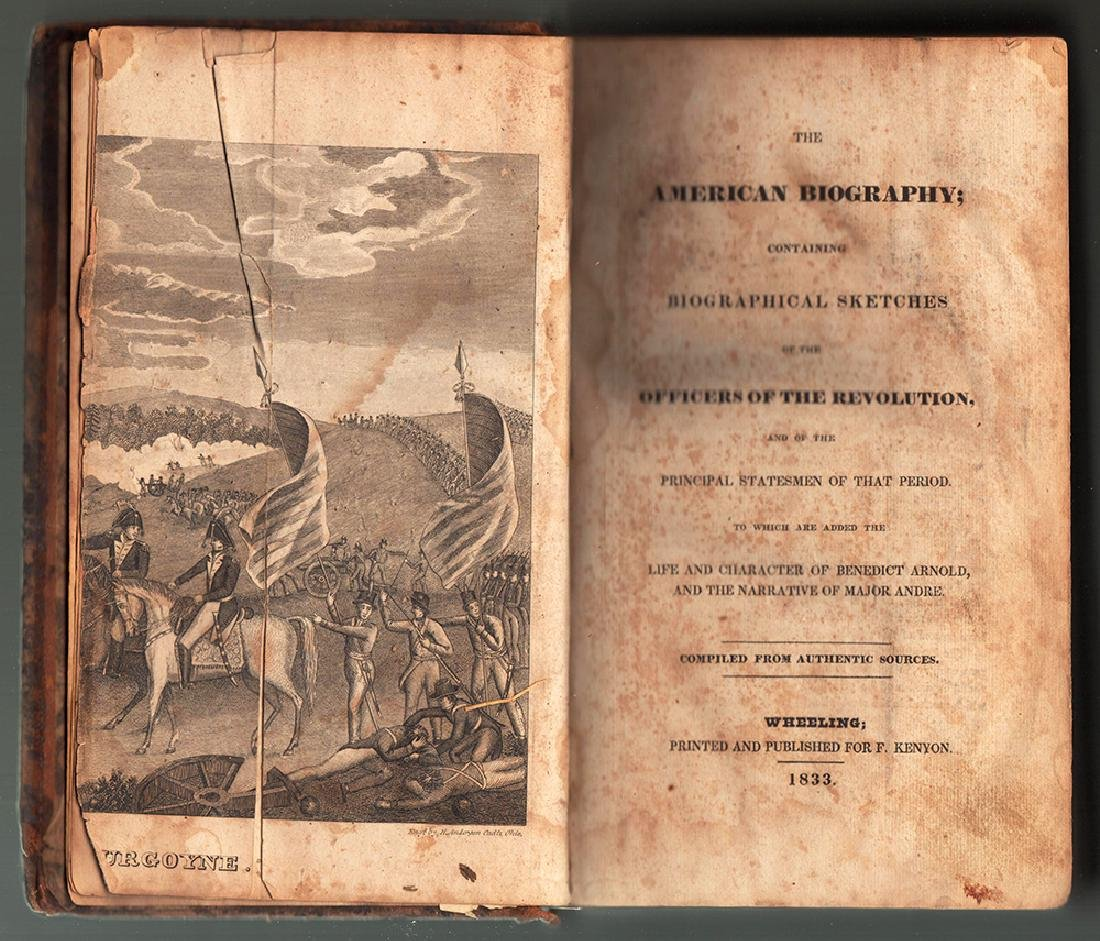 1833 American Biography of Revolutionary War Officers