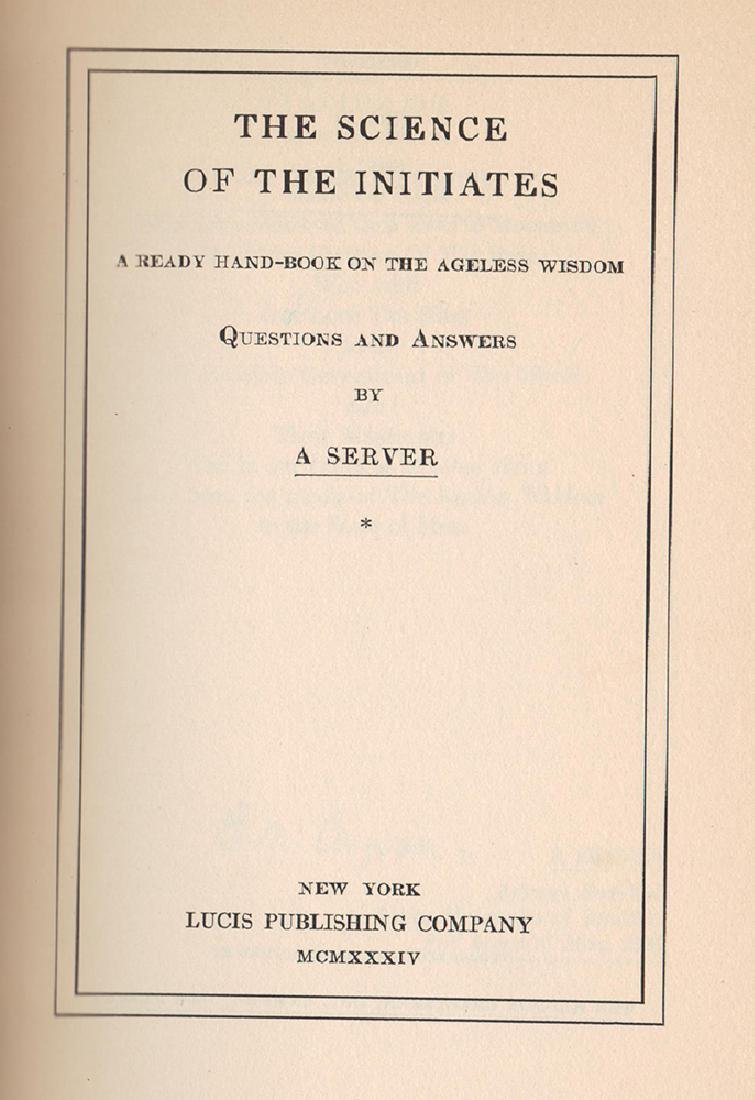 Sgd. First Edition Science Initiates, by E. M. Cosgrove - 2