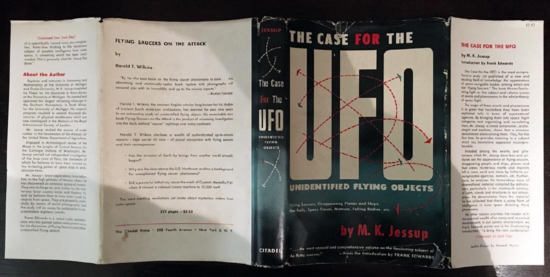 Case UFO, M. K. Jessup First Thus Citadel Press 1955 - 2