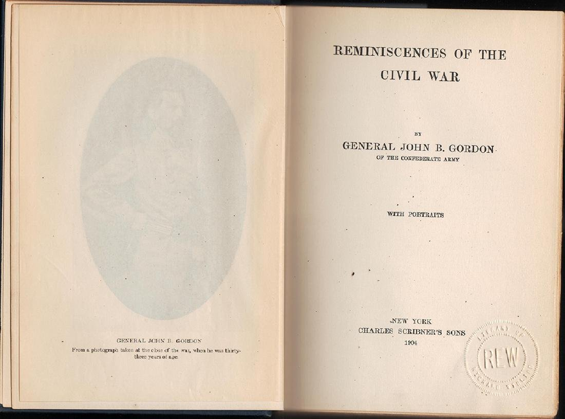 First Edition Reminiscences of the Civil War Gen Gordon - 2