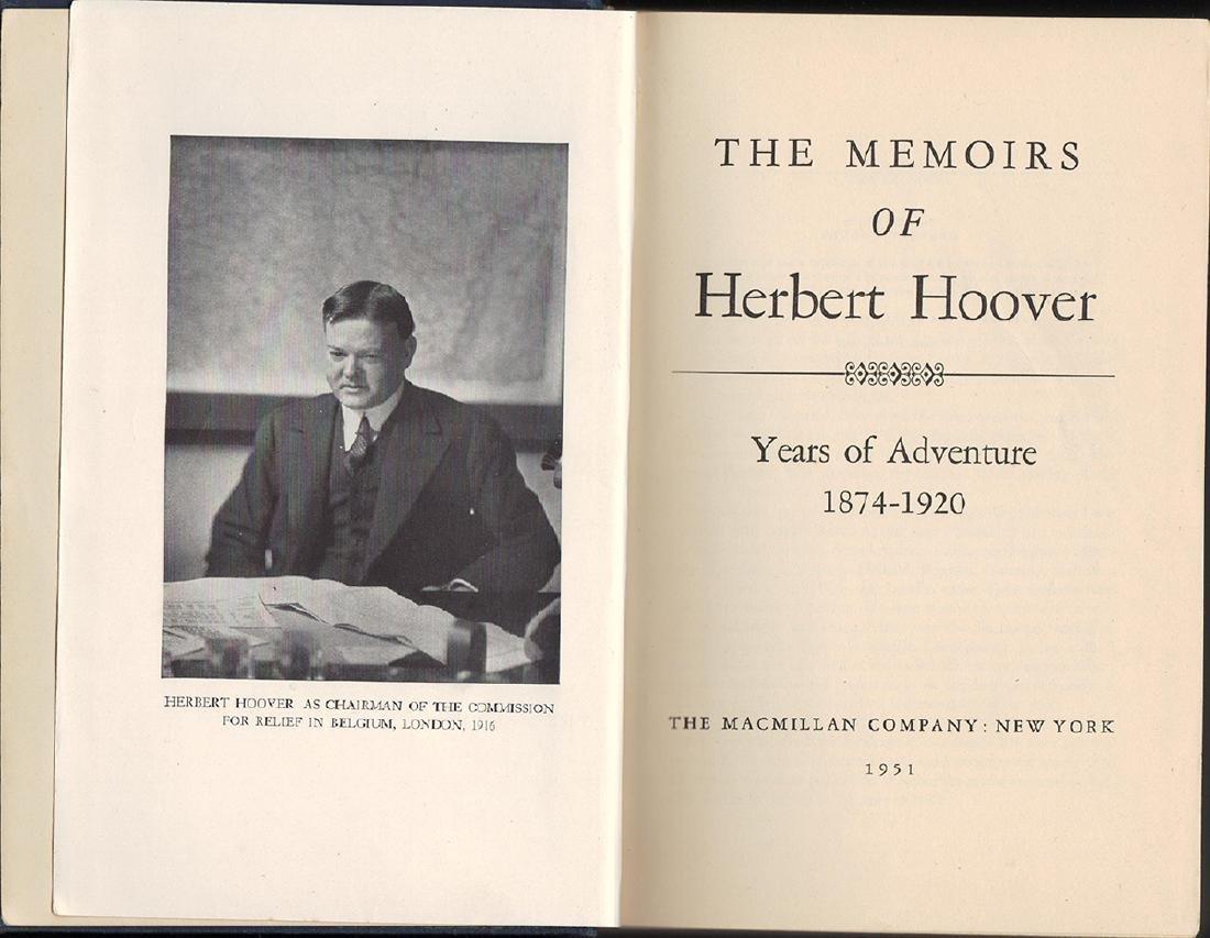 Memoirs of Herbert Hoover signed by President Hoover - 3