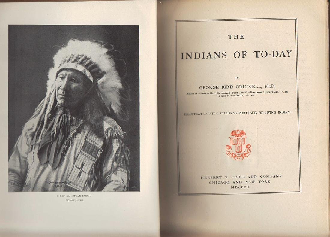 Indians Today George Bird Grinnell Scarce First Edition - 3