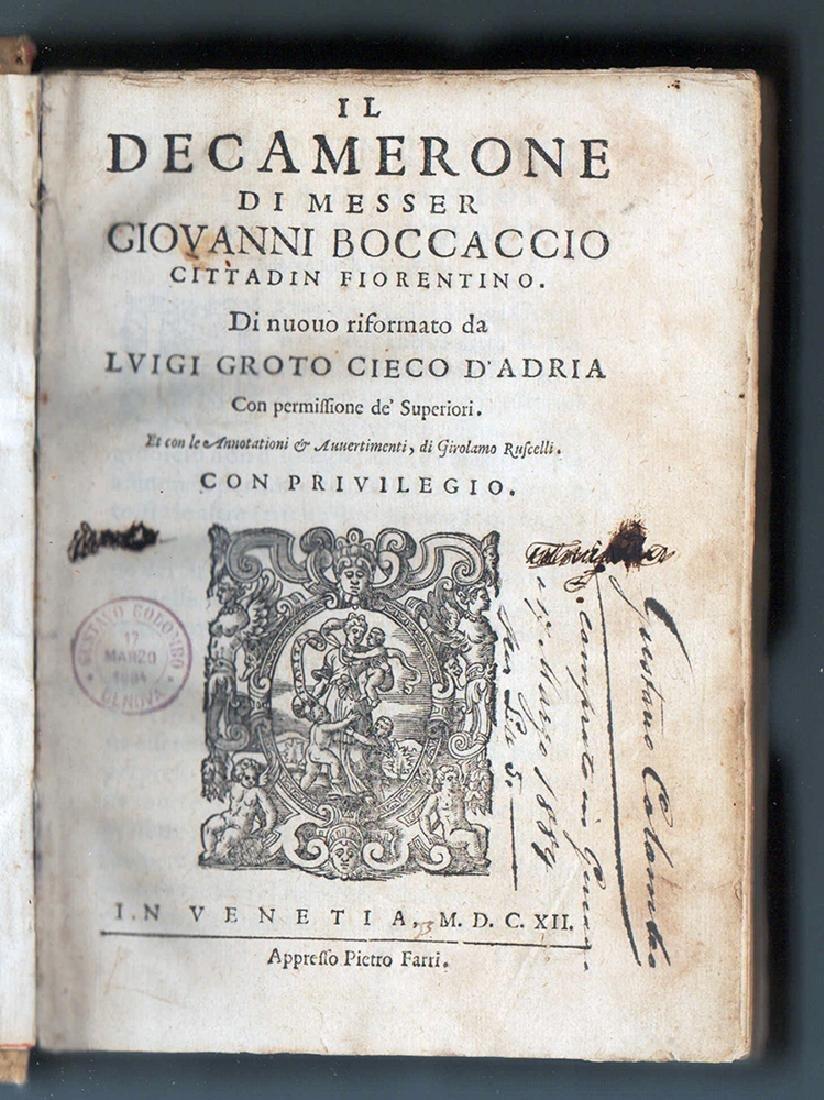 Decamerone Di Messer Giovanni Boccaccio Cittadin 1612