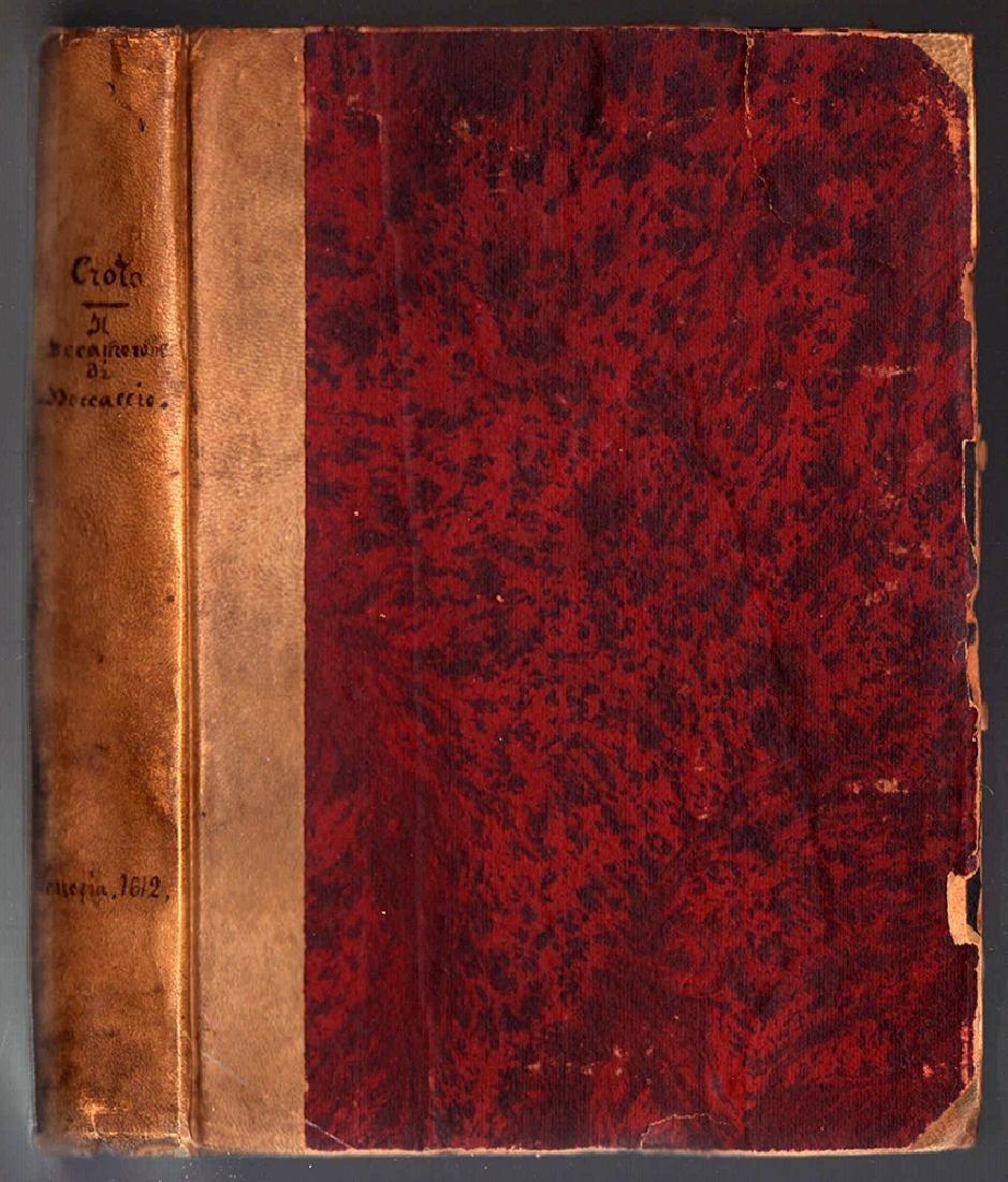 Decamerone Di Messer Giovanni Boccaccio Cittadin 1612 - 2