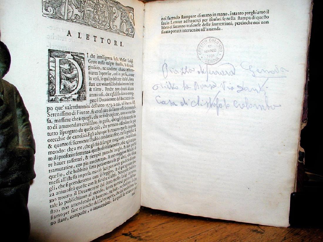 Decamerone Di Messer Giovanni Boccaccio Cittadin 1612 - 3