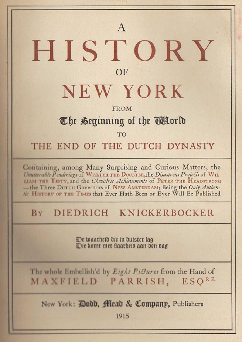 Knickerbocker's History of New York - Maxfield Parrish - 5