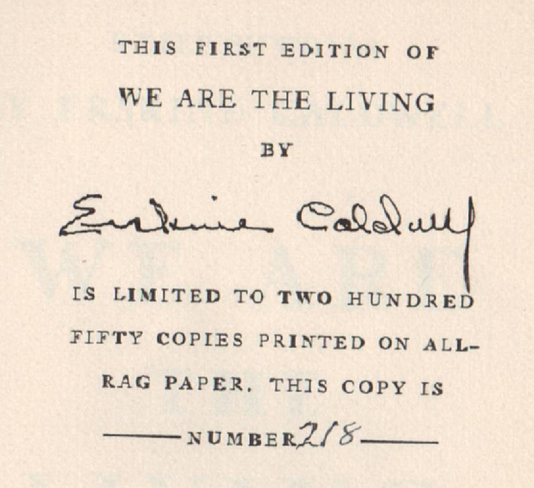 We Are The Living 218/250 signed by Erskine Caldwell