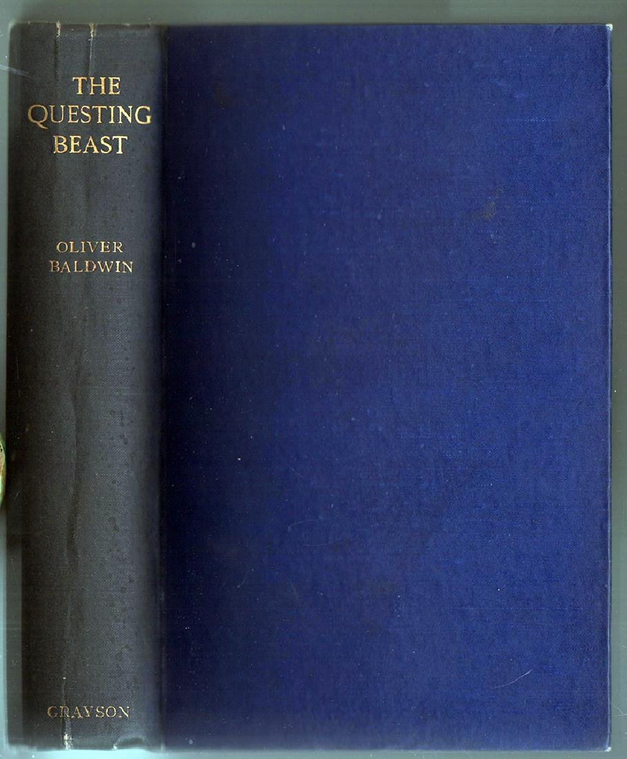 The Questing Beast, Oliver Baldwin – First Edition