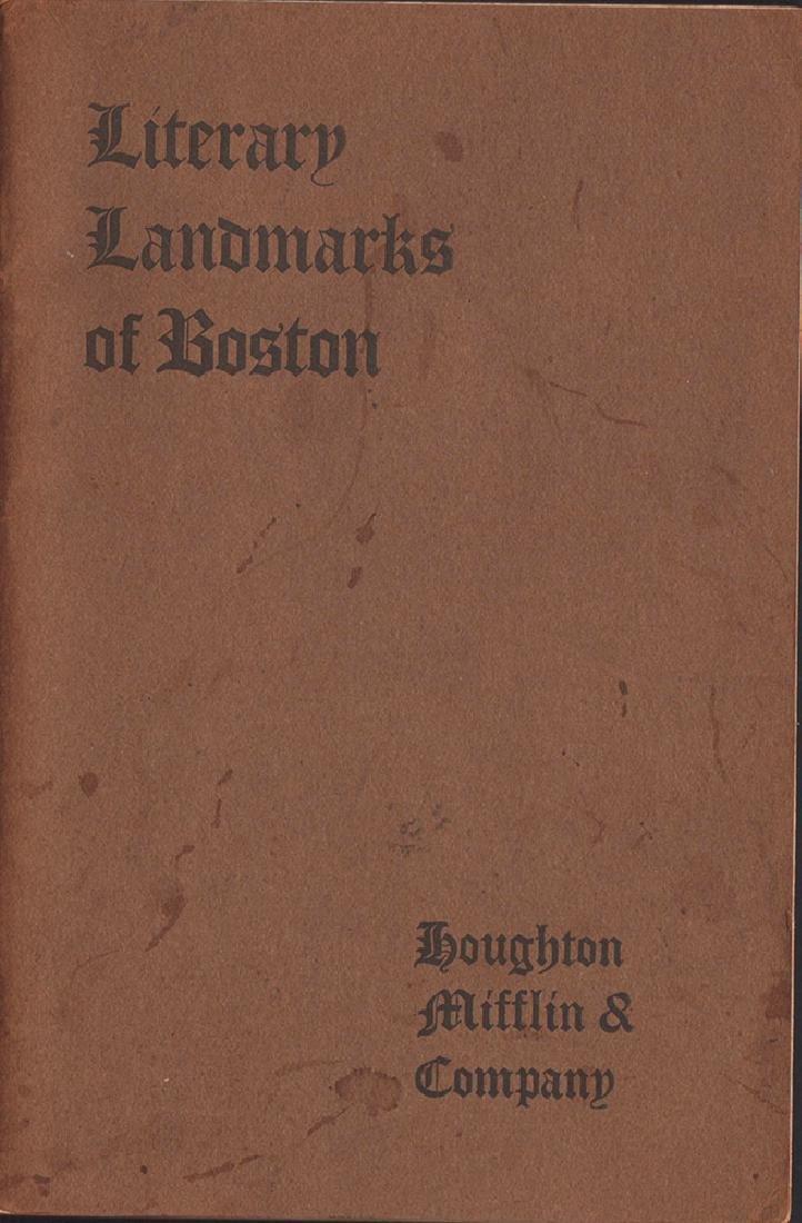 Literary Landmarks of Boston 1903