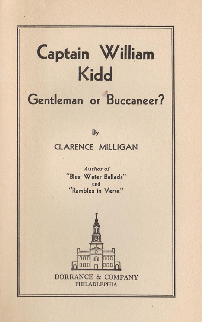 Captain Kidd, Clarence Milligan, Scarce First Edition - 3