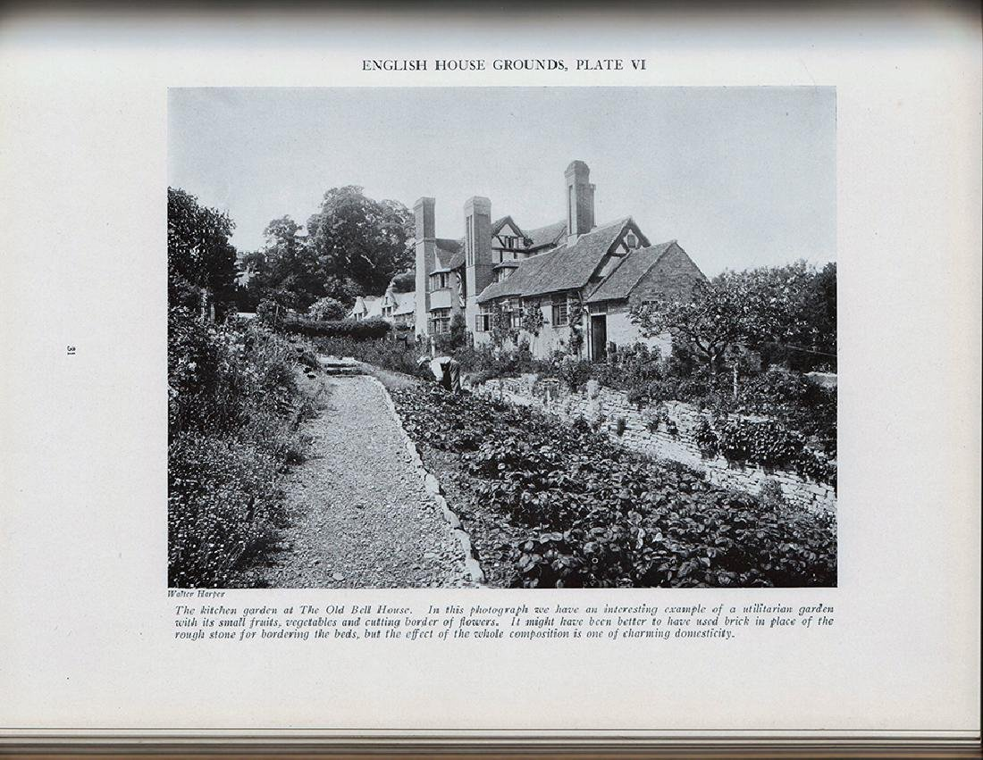 English House Grounds Photographic Views Signed Parsons - 2