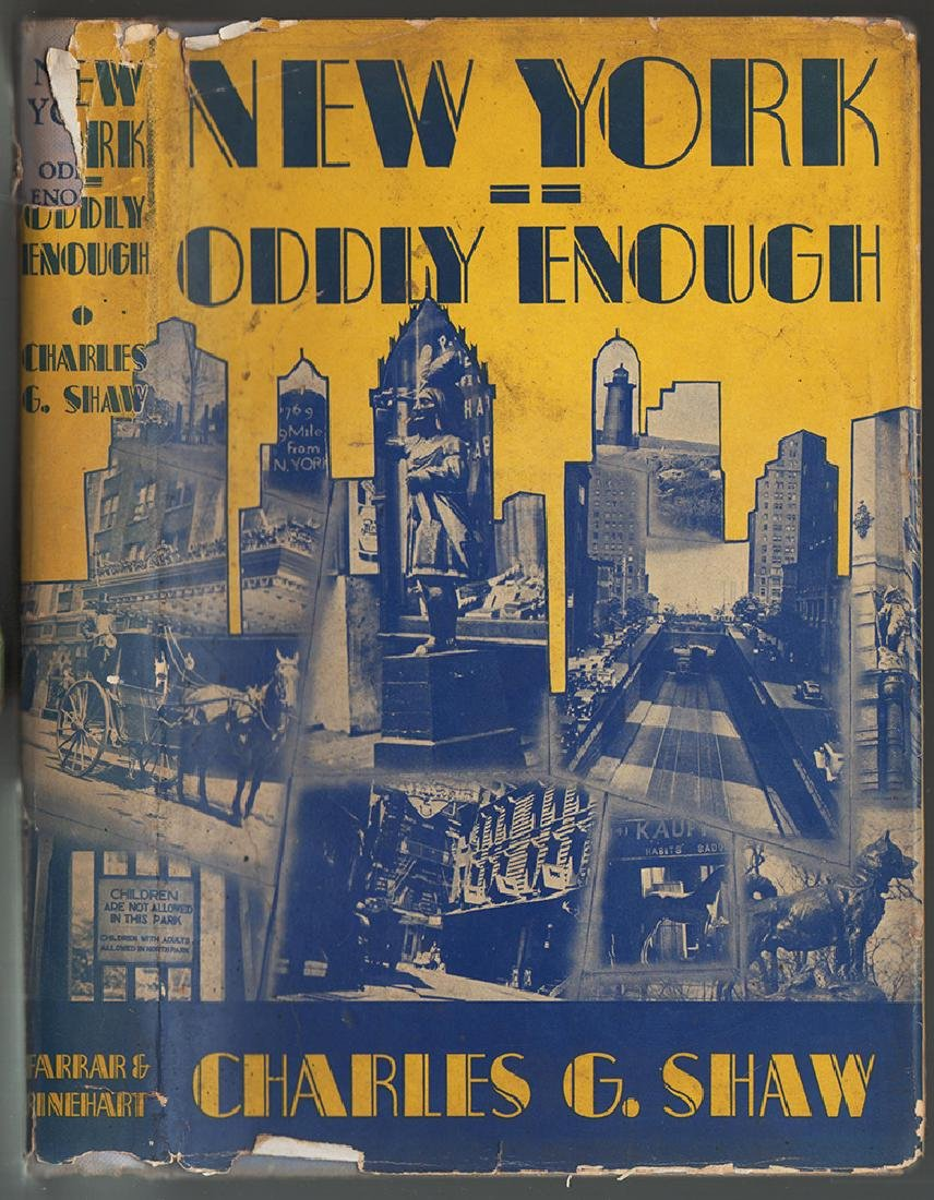 New York, Oddly Enough Scarce in dust jacket