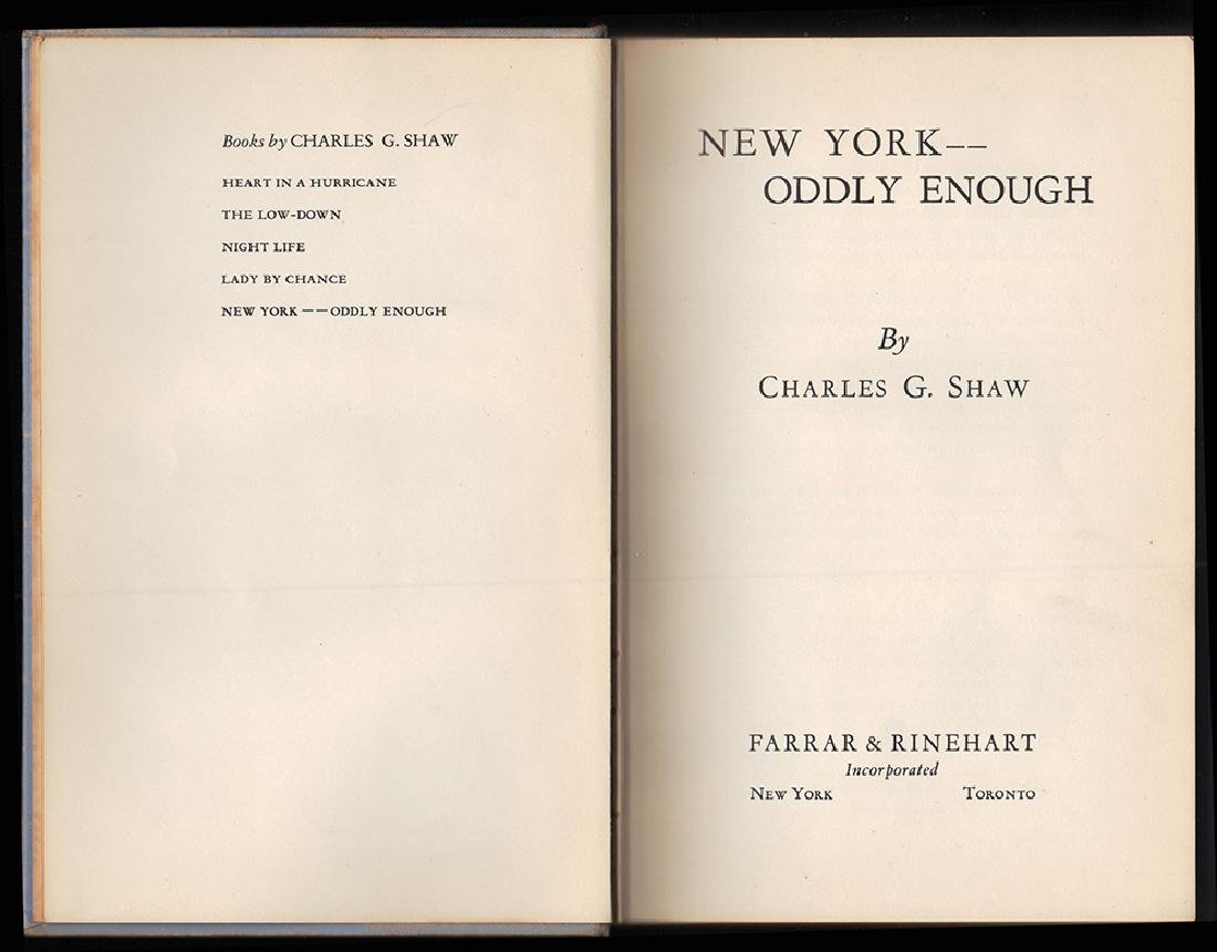 New York, Oddly Enough Scarce in dust jacket - 3