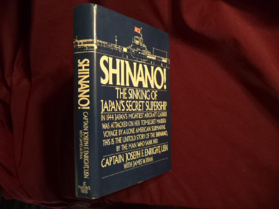 Shinano! Signed by the author Sinking Japan's Supership