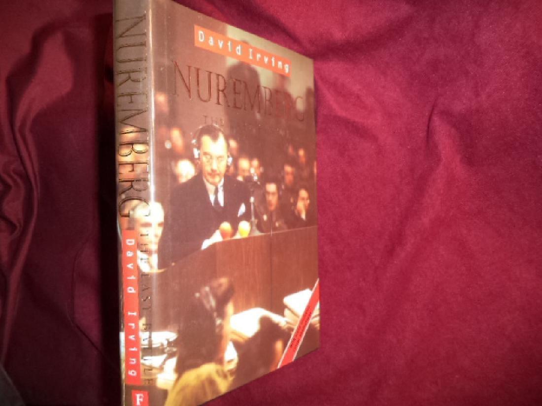 Nuremberg Last Battle Signed author Signed menu laid in