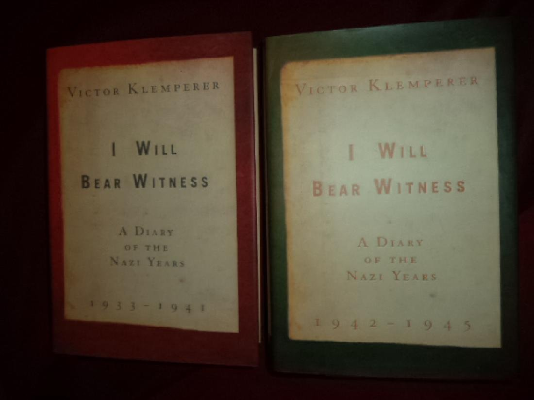 I Will Bear Witness A Diary of the Nazi Years 2 Volumes