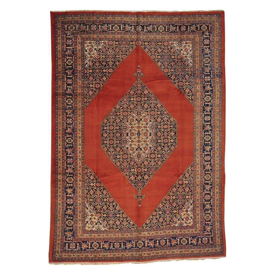 Antique Original Persian Tabriz Rug Handmade 7.3x10.3