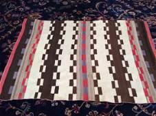 Vintage Navajo Serape Blanket Rug 5x3.5