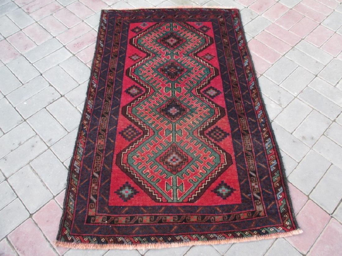 Semi Antique Baluchi Rug 4.5x2.9