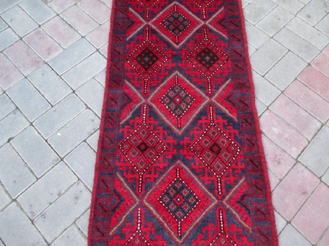 Hand Knotted Meshwani Runner Rug 8.5x2.1 - 2