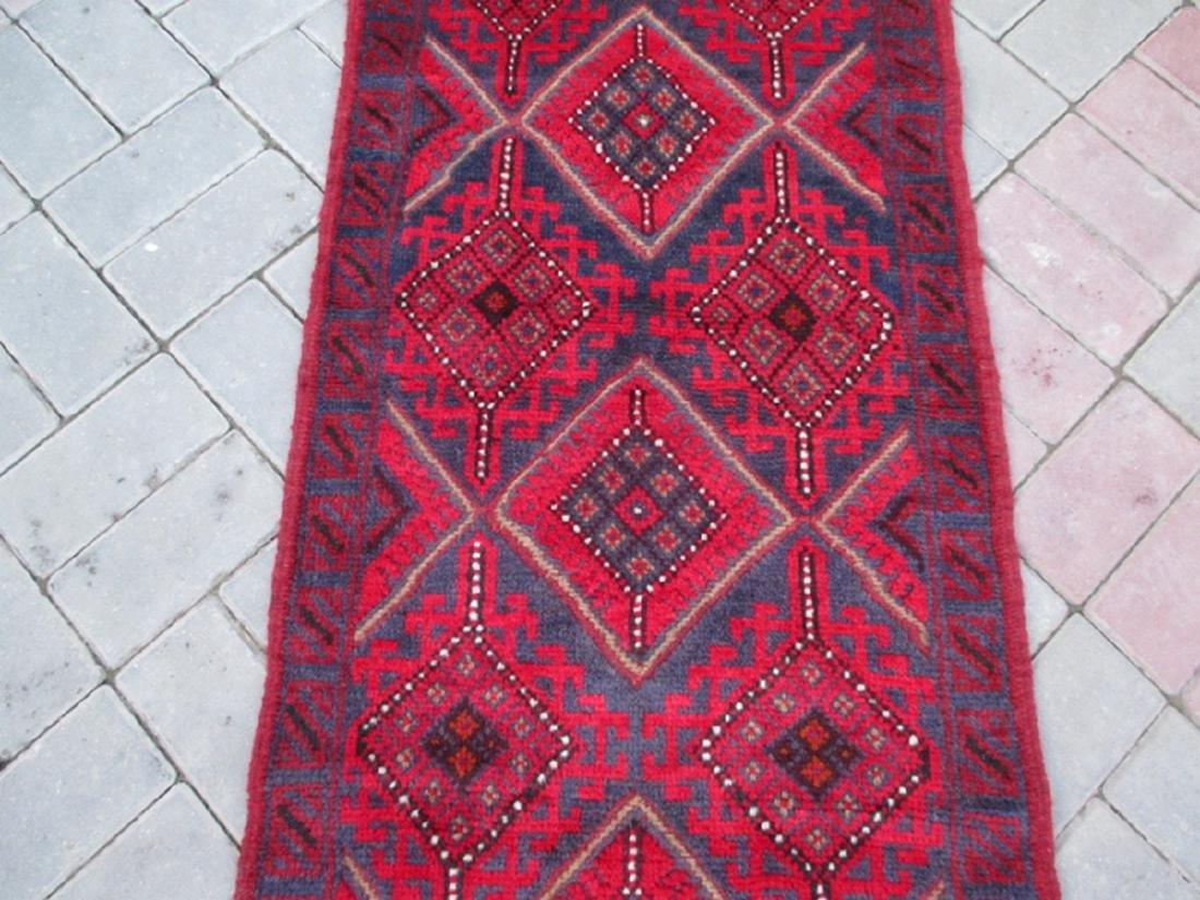 Hand Knotted Meshwani Runner Rug 8.5x2.1 - 3