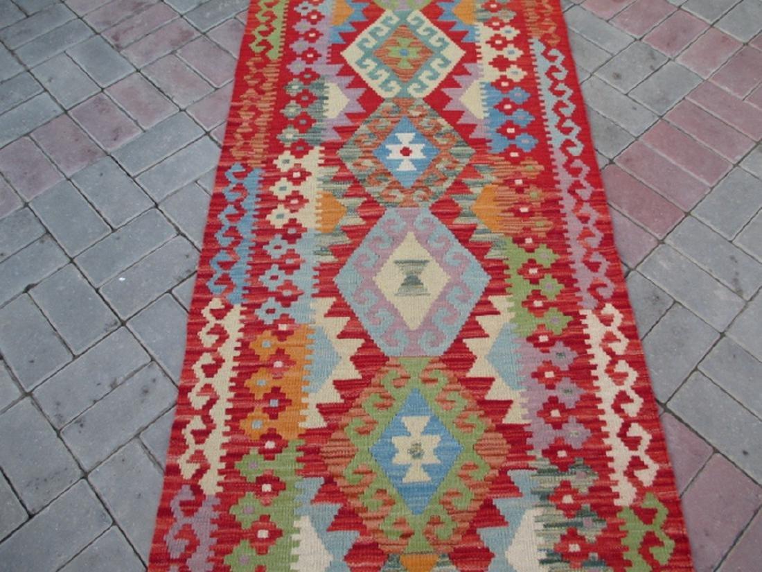 Hand Woven Chobi Kilim Runner Rug 9.5x2.8 - 2