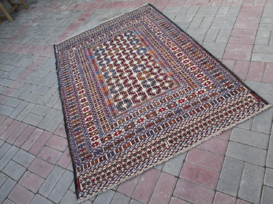 Hand Made Needle Work Sumak Kilim Rug 6.5x4.2