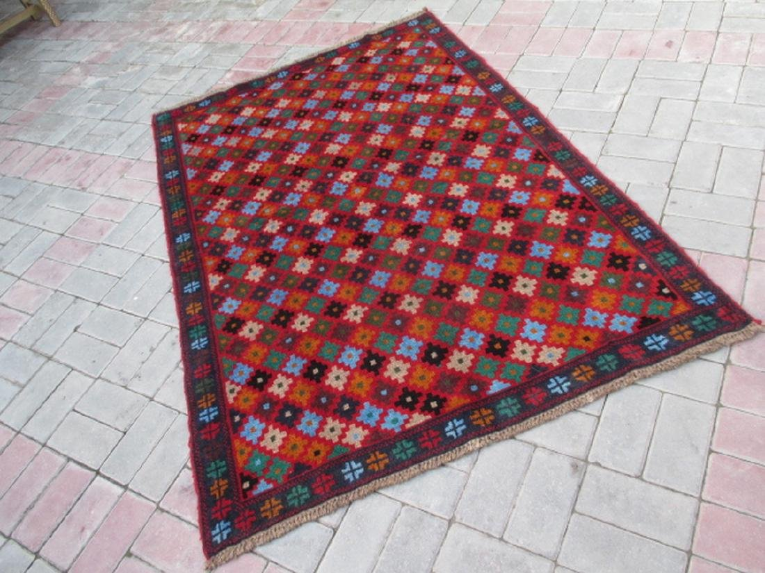 Contemporary Hand Knotted Baluchi Rug 5.11x4