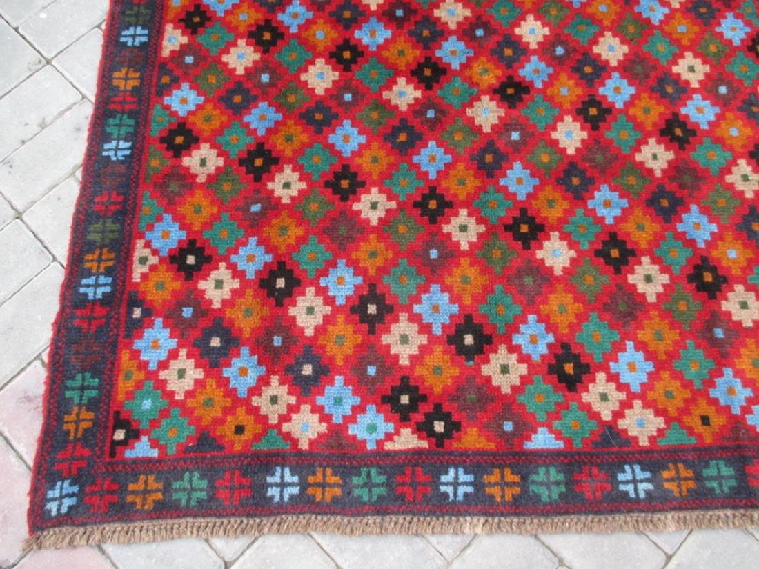 Contemporary Hand Knotted Baluchi Rug 5.11x4 - 4