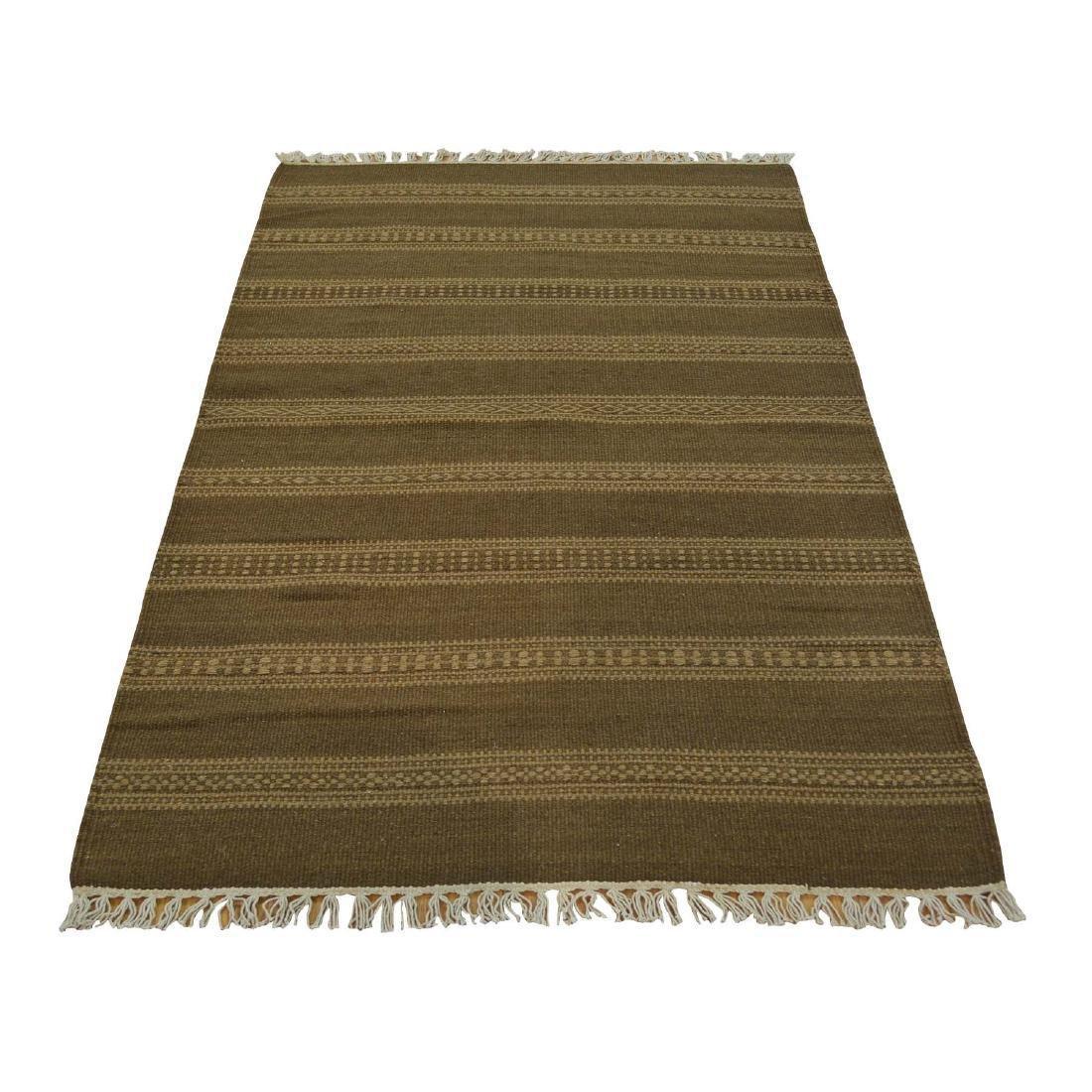 Wool Durie Kilim Rug Hand Woven Flat Weave 3x5.1