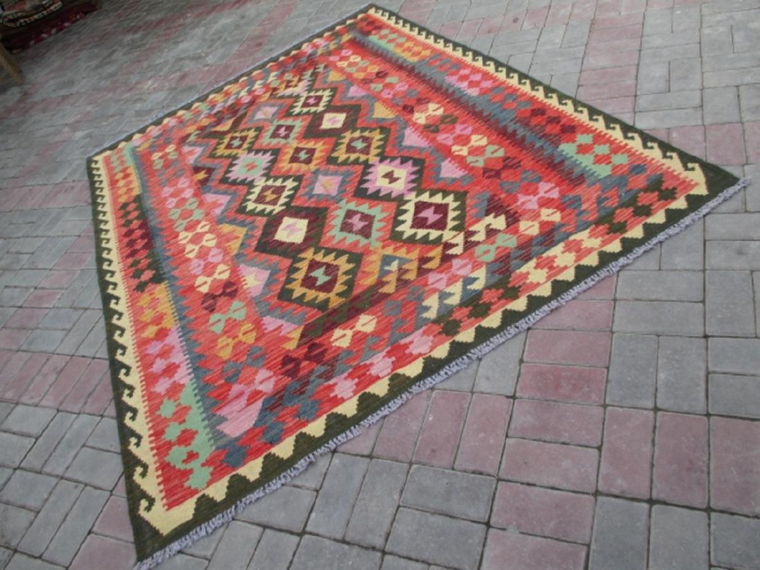 Hand Woven Chobi Kilim Rug 7.10x5.9