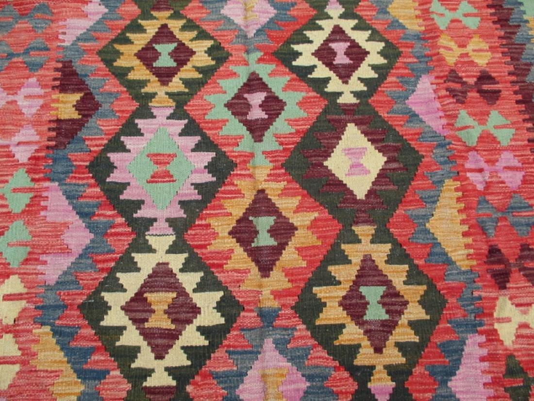 Hand Woven Chobi Kilim Rug 7.10x5.9 - 3