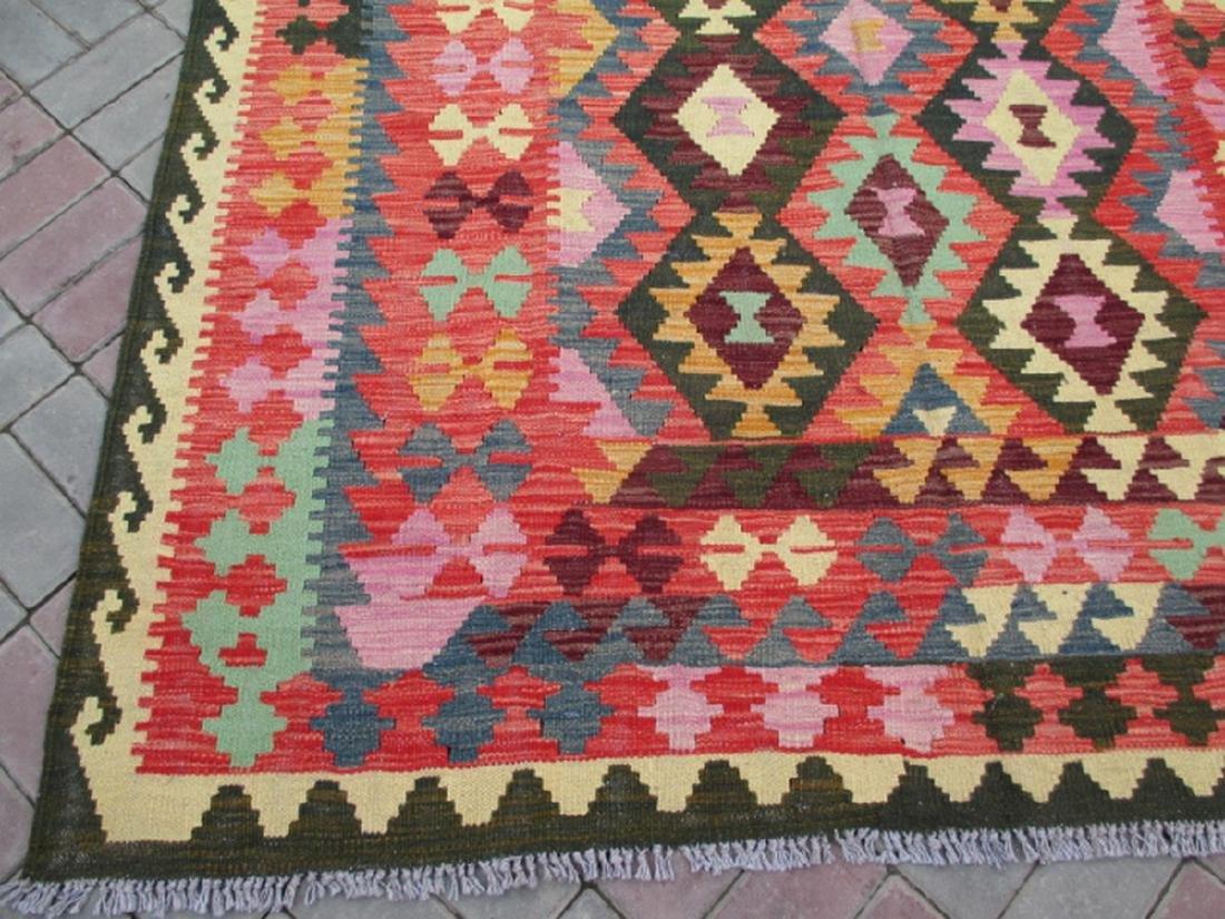 Hand Woven Chobi Kilim Rug 7.10x5.9 - 4