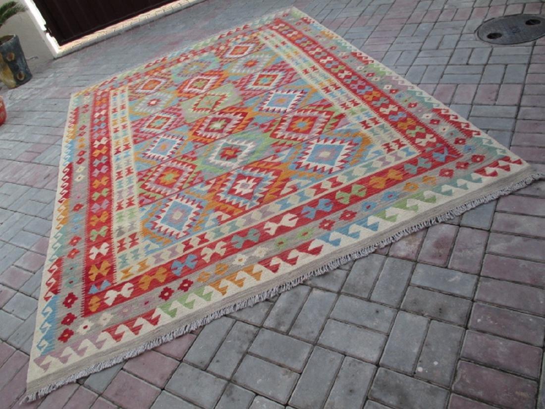 Hand Woven Chobi Kilim Rug 9.7x6.2