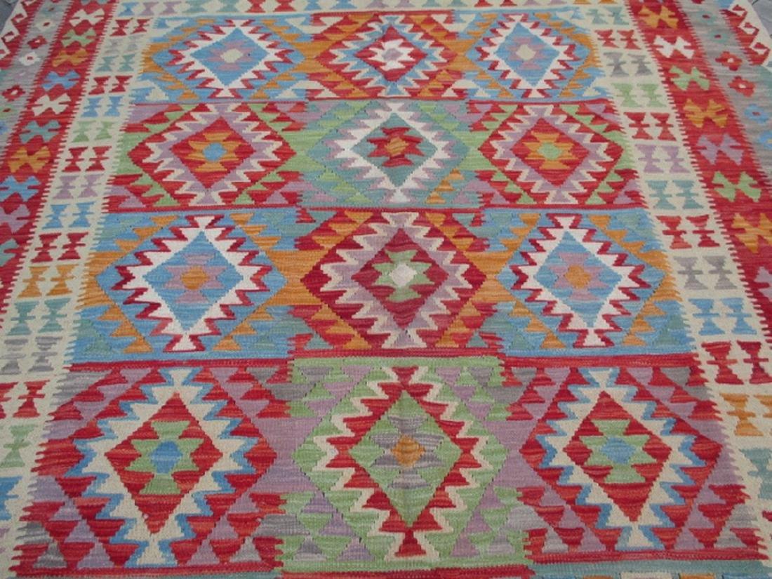 Hand Woven Chobi Kilim Rug 9.7x6.2 - 2