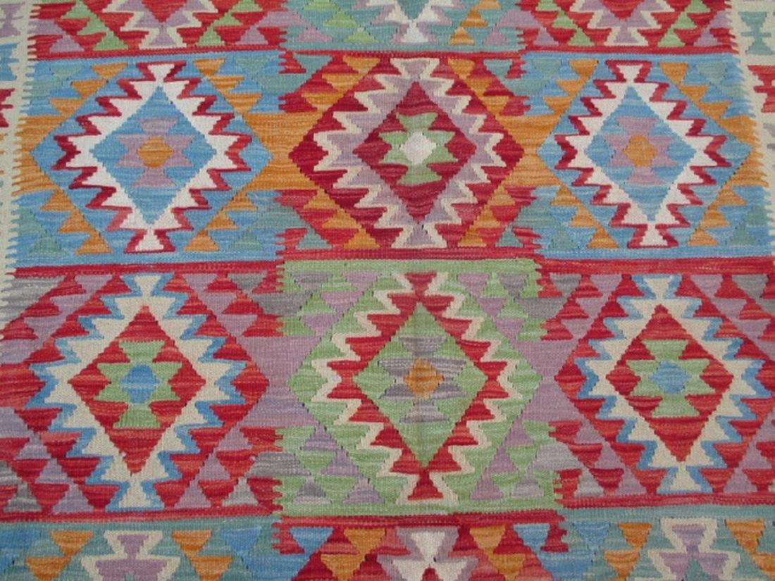 Hand Woven Chobi Kilim Rug 9.7x6.2 - 3