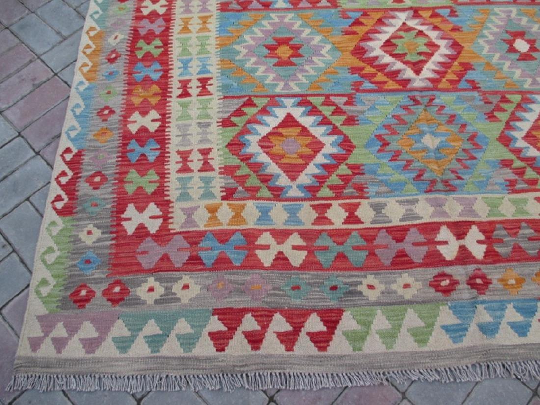 Hand Woven Chobi Kilim Rug 9.7x6.2 - 4