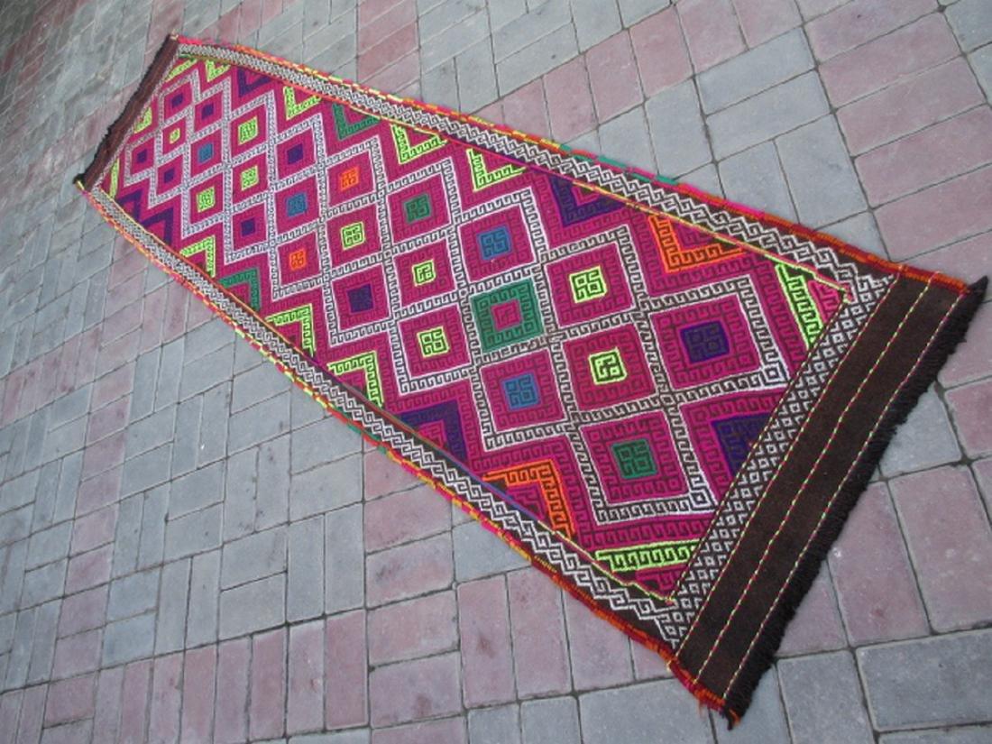 Suzni Hand Made Kilim Runner Rug 8.10x2.3
