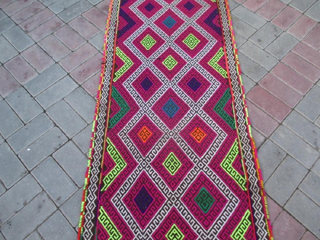 Suzni Hand Made Kilim Runner Rug 8.10x2.3 - 2