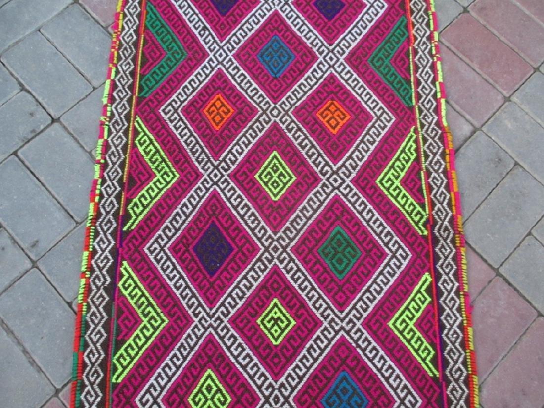 Suzni Hand Made Kilim Runner Rug 8.10x2.3 - 3