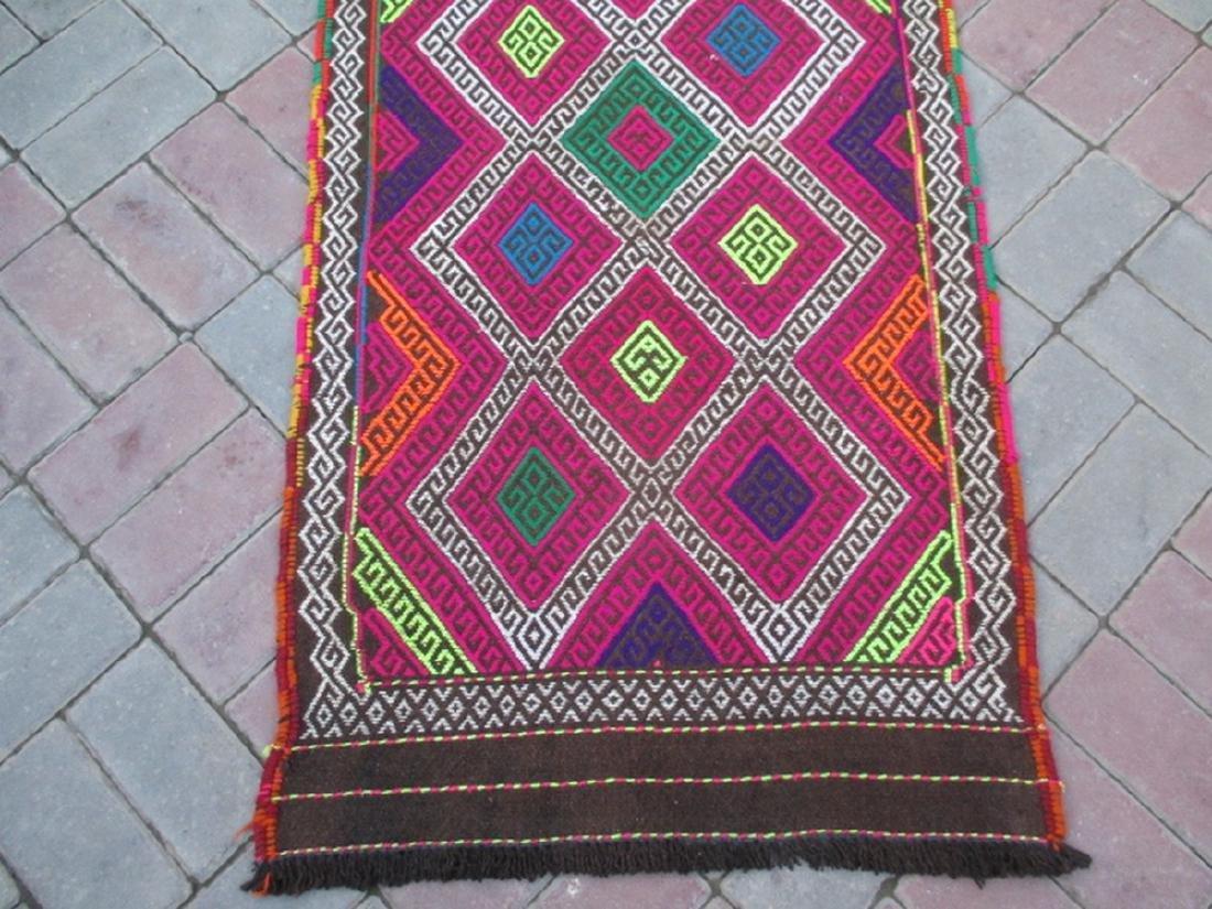Suzni Hand Made Kilim Runner Rug 8.10x2.3 - 4