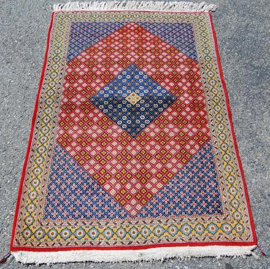 Handmade Persian Mahal Rug 4.9x3.5