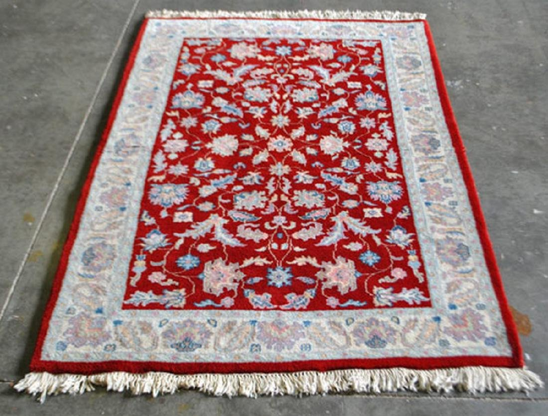 Hand Made Persian Floral Fine Rug 4.1x6