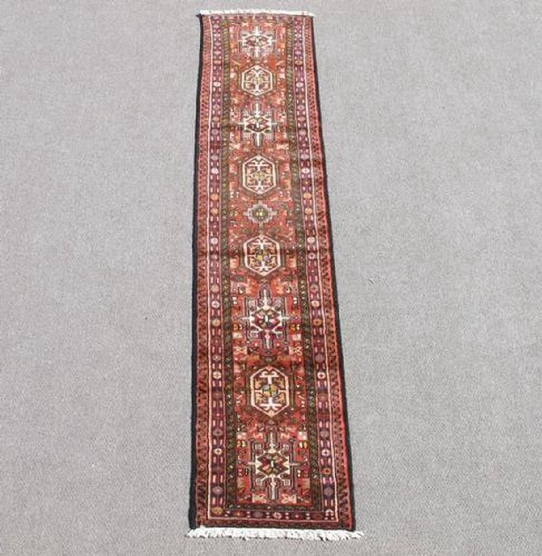 Semi Antique Persian Heriz Runner Rug 2.1x9.4