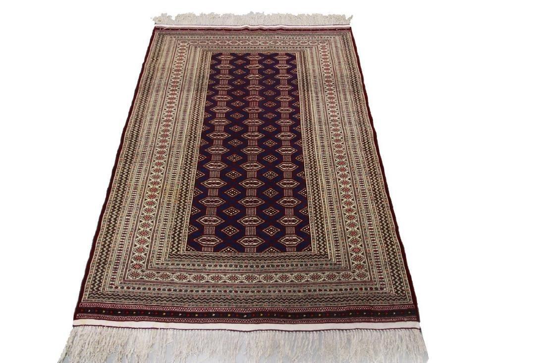 Fine Vintage Persian Turkoman Rug Bokhara 4.10x6.9