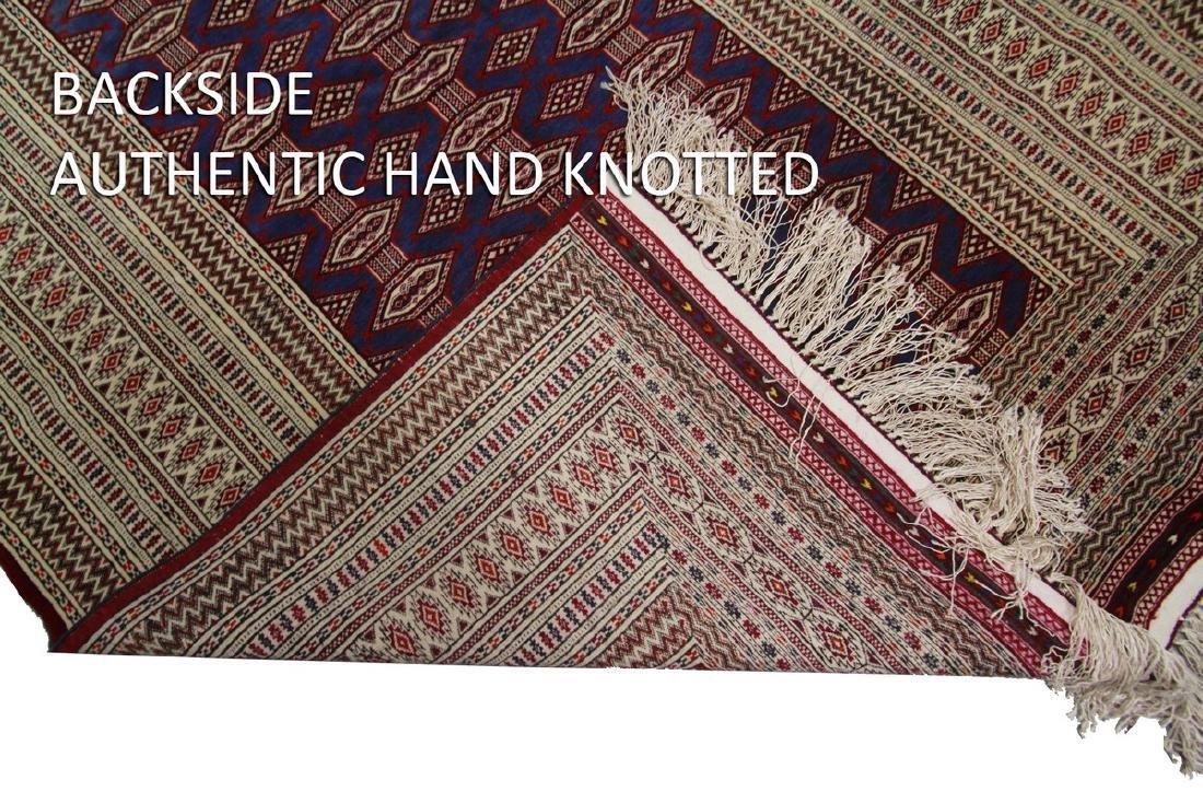 Fine Vintage Persian Turkoman Rug Bokhara 4.10x6.9 - 4