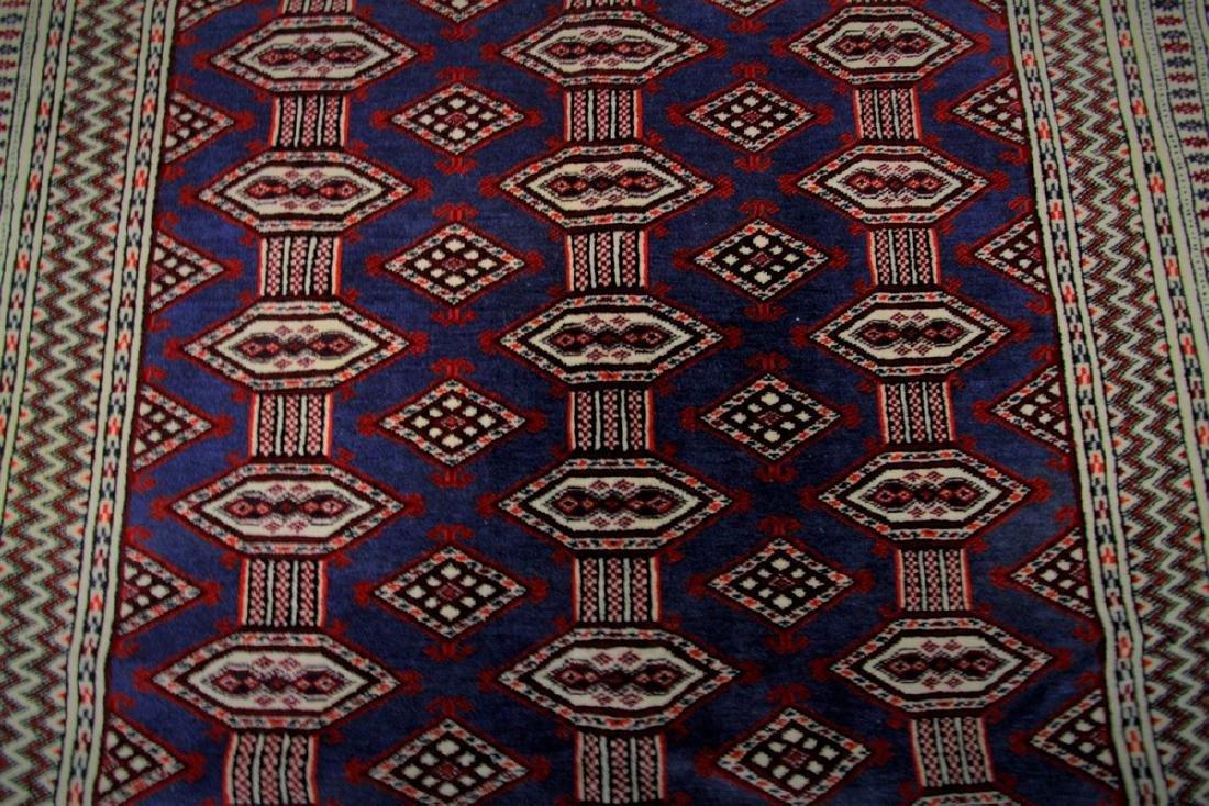 Fine Vintage Persian Turkoman Rug Bokhara 4.10x6.9 - 5