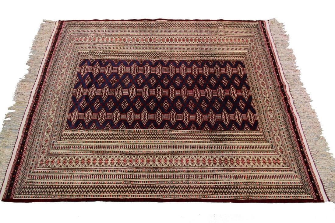 Fine Vintage Persian Turkoman Rug Bokhara 4.10x6.9 - 6