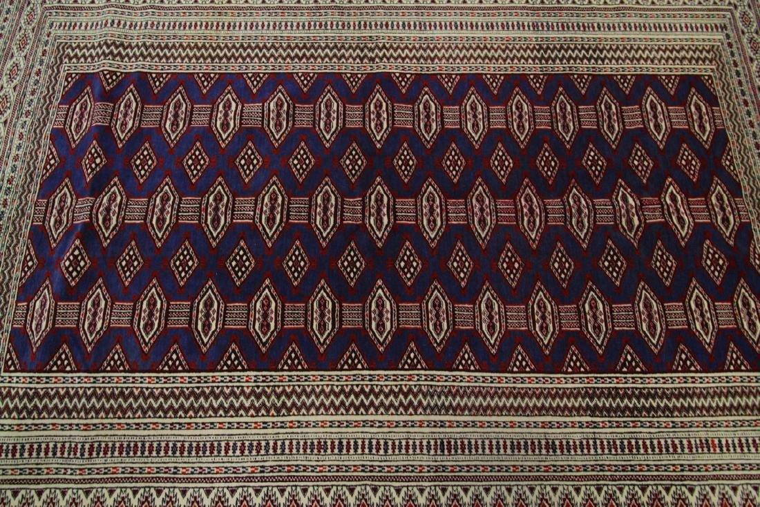 Fine Vintage Persian Turkoman Rug Bokhara 4.10x6.9 - 7